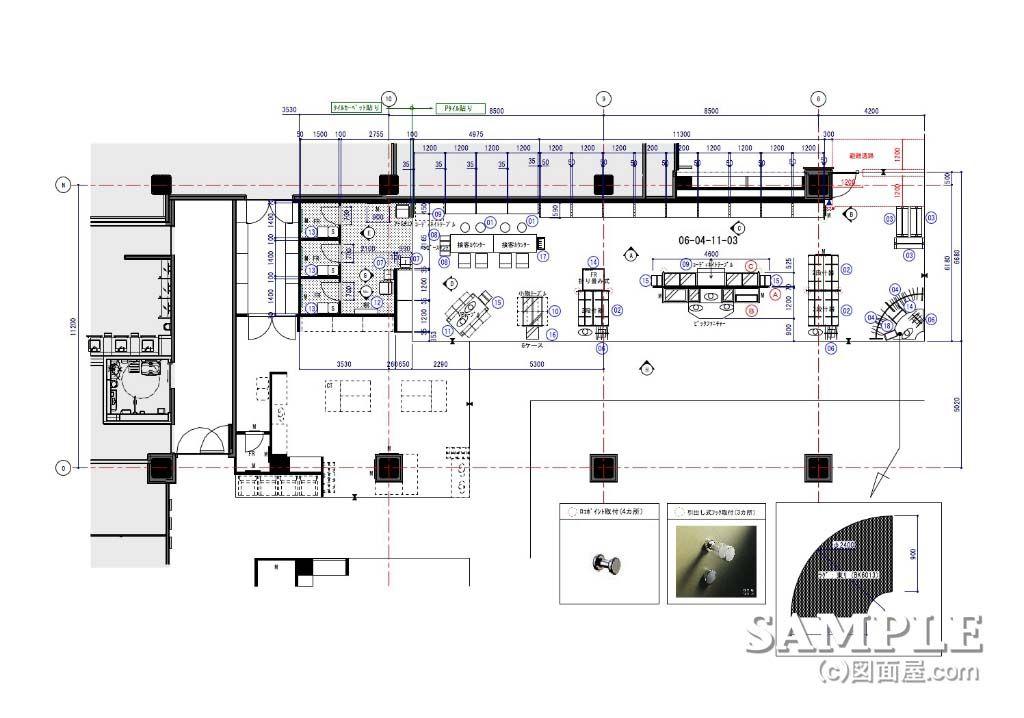 メンズロープライススーツ売場の平面図