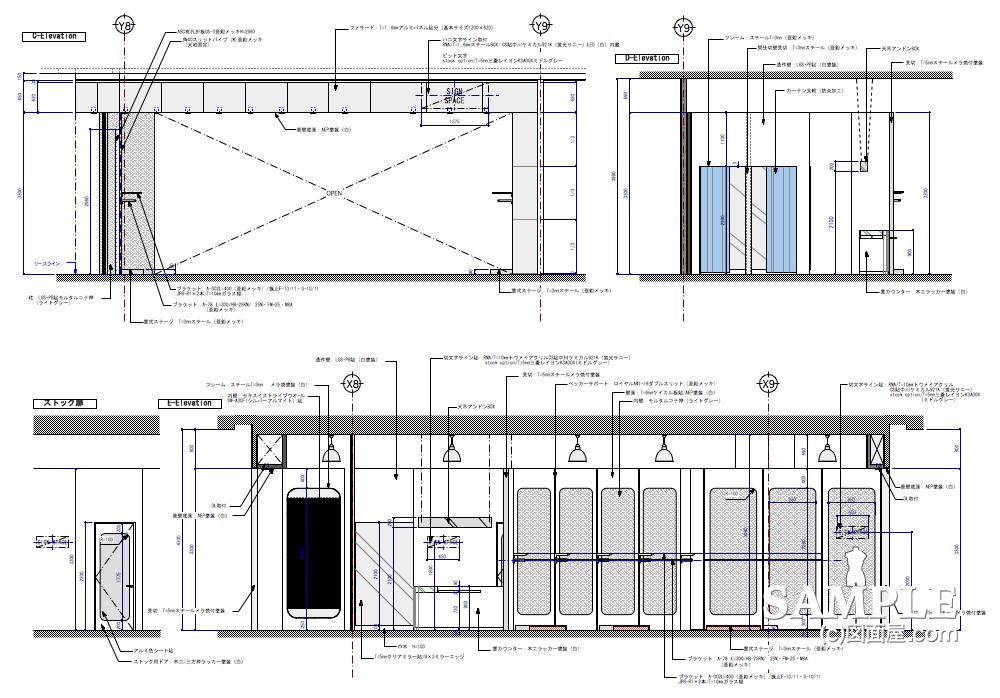ハードタッチなデザインが冴えるレディースショップの展開図2