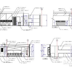 和食店、蕎麦屋の展開図事例3