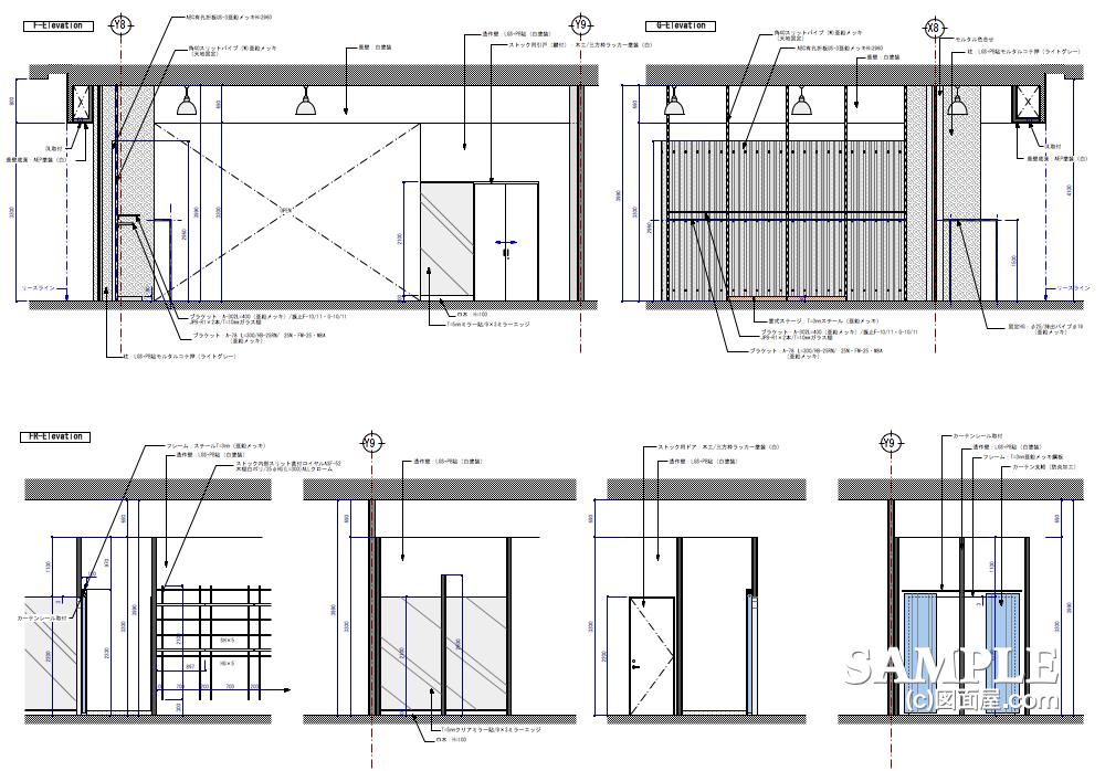 ハードタッチなデザインが冴えるレディースショップの展開図3