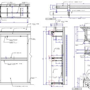 フェイスアウトと棚板で構成された壁面システム什器
