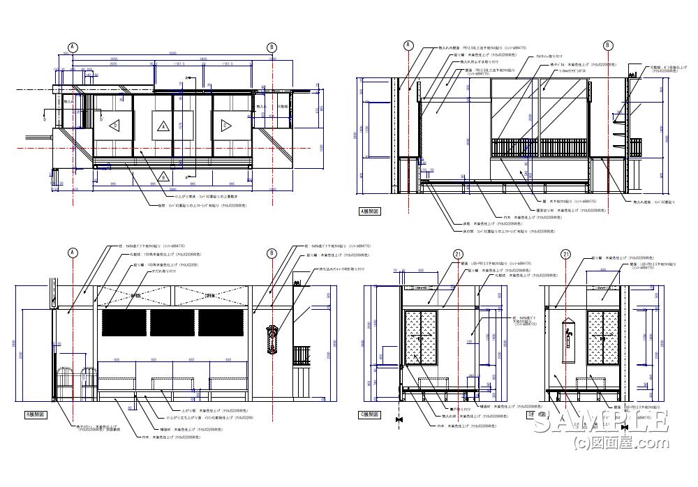 小上がり席の詳細図01