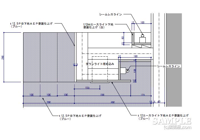 ライフスタイルショップのレジエリアゲートの詳細図