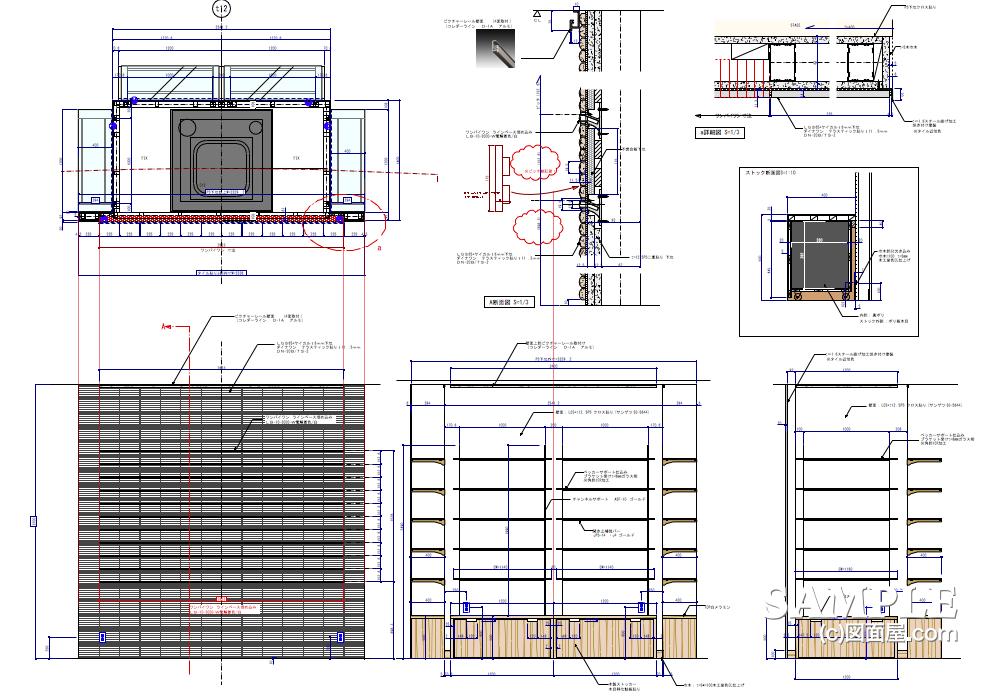 ライフスタイルショップの柱廻り詳細図2