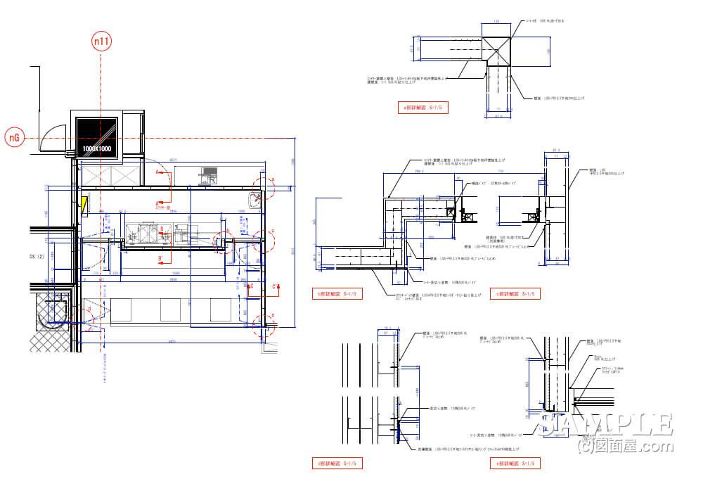 デパ地下のおしゃれなベーカリーショップの厨房図