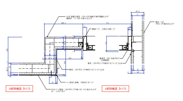 デパ地下のおしゃれなベーカリーショップの厨房詳細図1