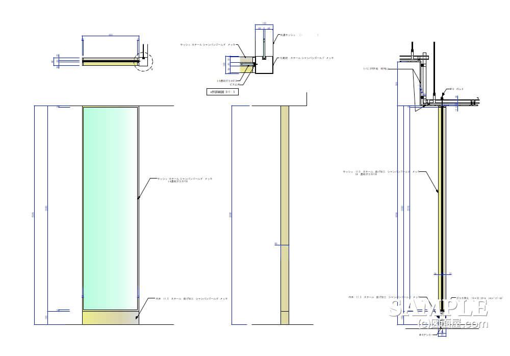デパ地下のおしゃれなベーカリーショップのガラススクリーン2
