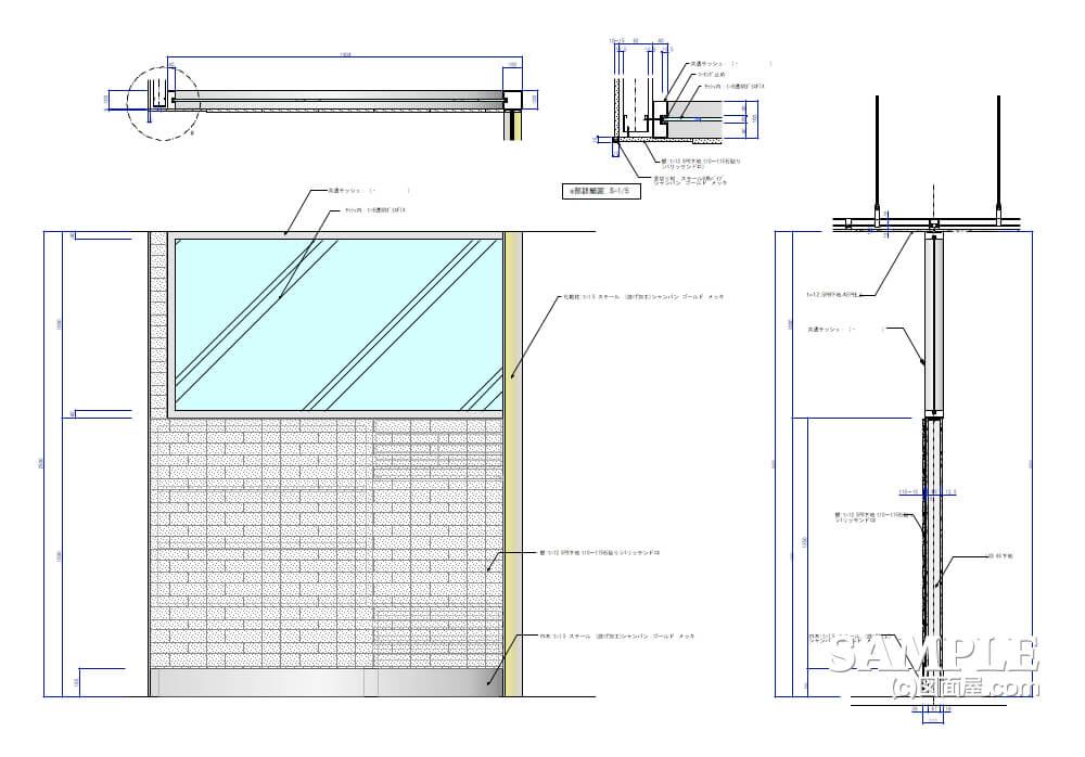 デパ地下のおしゃれなベーカリーショップのガラススクリーン3