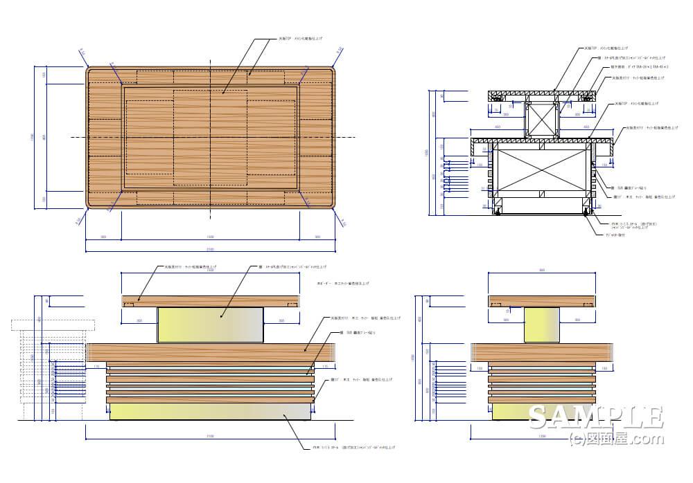 デパ地下のおしゃれなベーカリーショップのテーブル什器1