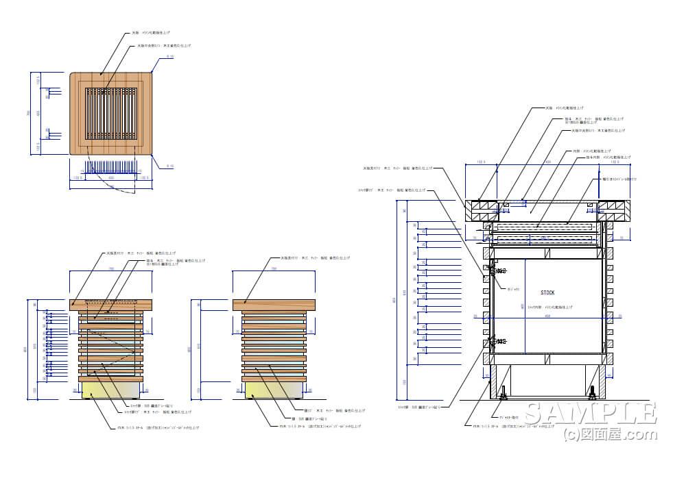 デパ地下のおしゃれなベーカリーショップのテーブル什器2