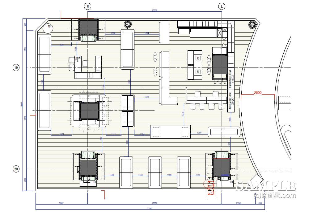 和食器売り場の平面図
