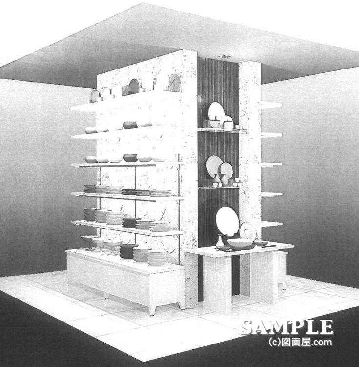 和食器売り場の柱ディスプレイイメージ