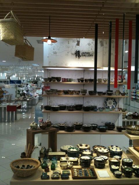 和食器売り場のルーバーイメージ