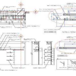 ちょっとハイグレードなレディースカジュアルショップの壁面詳細図1