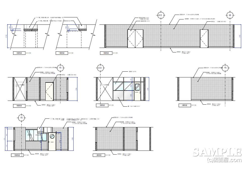 ショッピングセンターのベーカリーショップ厨房展開図1