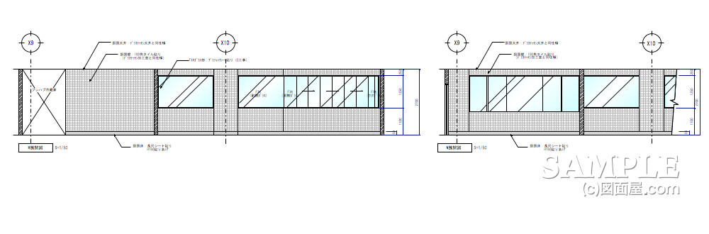 ショッピングセンターのベーカリーショップ厨房展開図2
