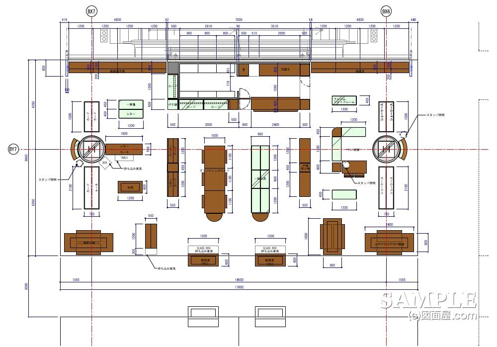 ステーショナリー売り場の平面図2