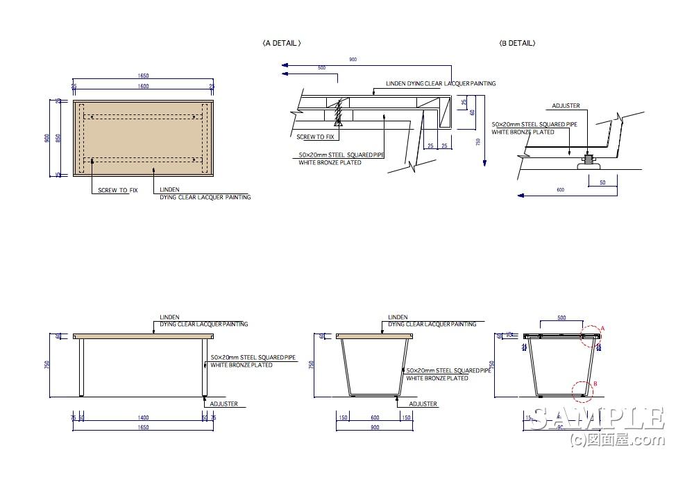 ファミリー向けカジュアルショップのプロトタイプのネストテーブル什器2
