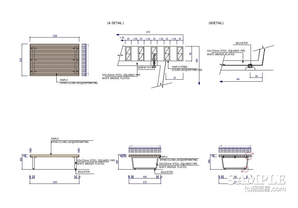 ファミリー向けカジュアルショップのプロトタイプのネストテーブル什器1
