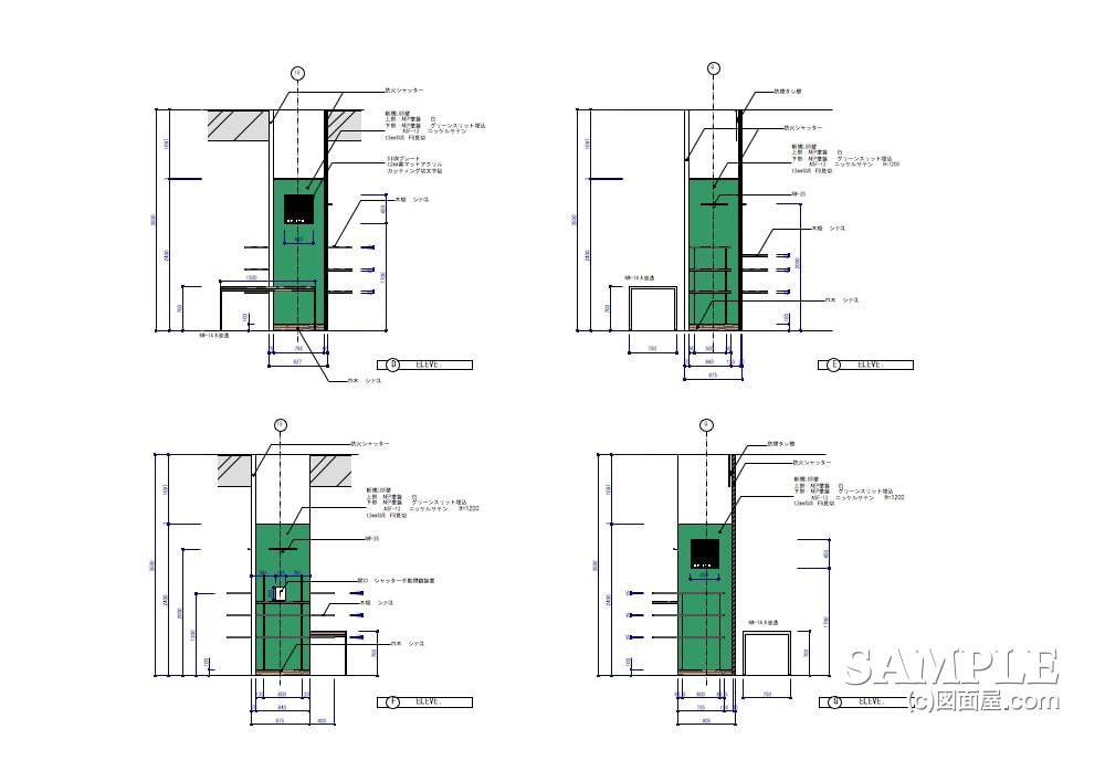 フレンチカジュアルテイストのファミリー型ショップの展開図2