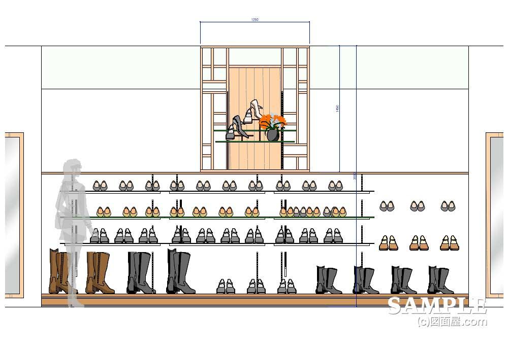 婦人服飾雑貨コーナー環境リニューアル計画のディスプレイイメージ