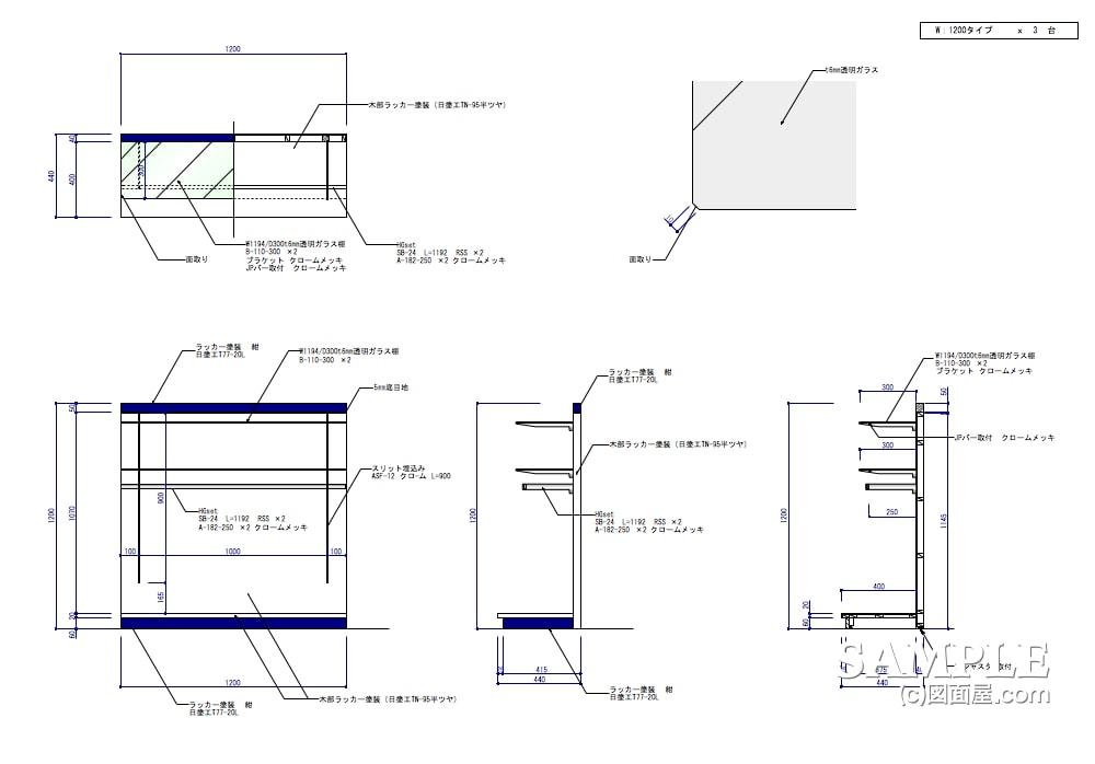可動什器だけでコンパクトに構成したキッズショップの片面什器2
